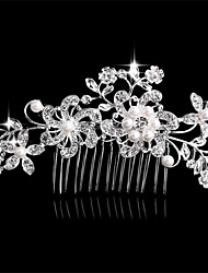 The New Hair Combed Korean Pearl Diamond Bride Headdress Flowers Euramerican Popularity Act The Role Ofing is Tasted