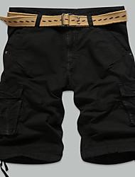 Men's casual pants bag in summer men's sport beach pants XL five fat pants overalls Division