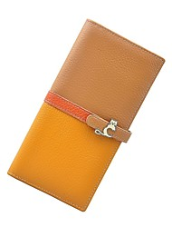 Women Cowhide  Multi-color Wallet