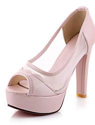 Women's / Girl's Wedding Shoes Heels / Peep Toe / Platform Sandals Wedding / Party & Evening / Dress Black / White