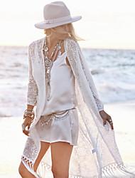 Robes Légères Aux femmes Franges Une-Pièce Bandeau Dentelle / Polyester