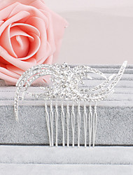 Women's Rhinestone Headpiece-Wedding / Special Occasion / Casual / Office & Career / Outdoor Hair Combs 1 Piece Gold / Clear