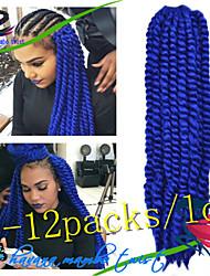 New Arrive 1Pack/Lot 12-24Inch Synthetic Hair Kanekalon Fiber Havana Twist Crochet Braids for Female
