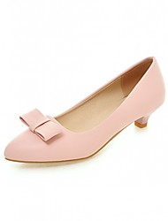 Women's Shoes Leatherette Low Heel Heels Heels Outdoor / Office & Career / Party & Evening Black / Pink / Beige
