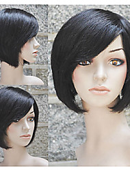 Popular 100% Short Bobo Human Hair With Machine Made Wig For Women