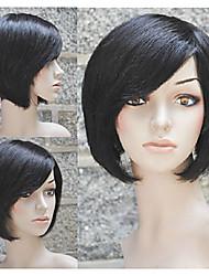 популярный 100% короткий бобо человеческие волосы с машиной сделал парик для женщин