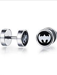 Batman man titanium earrings