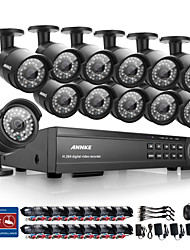 annke® 16CH HD 1080p cctv all'aperto registrare video sistema di telecamere di sicurezza domestica dvr