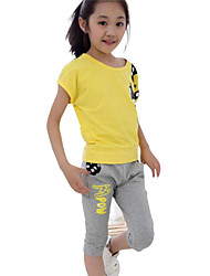 Girl's Clothing Set,Cotton Summer Red / Yellow