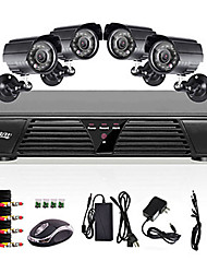 Liview® 8CH Full 960H DVR and 4pcs Outdoor 800TVLine Day/Night cameras