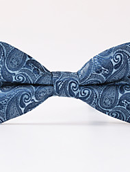 Light Blue Paisley  A Formal Butterfly Bow Tie