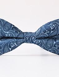 Gravata Borboleta (Azul , Poliéster) Estampado
