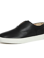 Men's Shoes Outdoor Leatherette Loafers Black / White