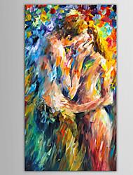 Peint à la main Personnage / Portraits AbstraitsModern / Style européen Un Panneau Toile Peinture à l'huile Hang-peint For Décoration