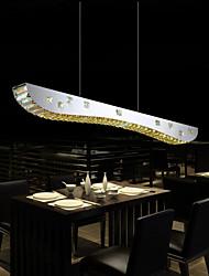 36W Contemprâneo Cristal Cromado Metal Luzes Pingente Sala de Estar / Sala de Jantar