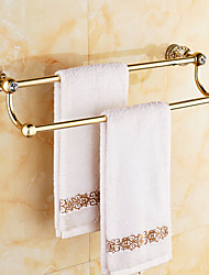 2016 Antique Copper and Diamond Wall Mounted 60CM Length Bathroom Double Towel Bar