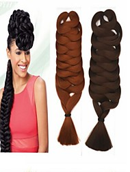 43Inch(Fold) Kanekalon Box Braid Brazilian Silky Touch Braiding Hair Synthetic Hair for Black Girls