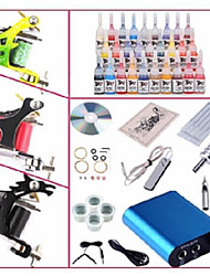 basekey professionele begineer tattoo kit kl103 3 machines met voeding grips 28x5ml inkt naalden