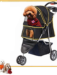 Mixed Material/ Portable/Safe Stroller Cart Car Carrier For Dogs / Cats