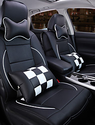 A New Full Leather Plaid Car Seat Cover Cushion Automotive Interior Protection Of The Original Car Seat