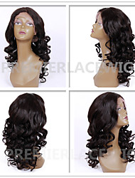 2016 Hot New Hot Sexy Big Loose Spiral Curly Wave 6-26 Inches 8A Brazilian Virgin Human Hair Full Lace Front Wigs