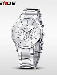 Вейде мужской бизнес часы полный стали дата кварц дисплей роскошный бренд водонепроницаемый наручные часы
