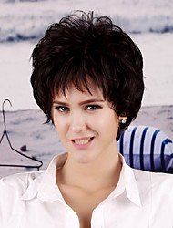 Fashionable Women's Short Curly Natural Black Synthetic Hair Wigs