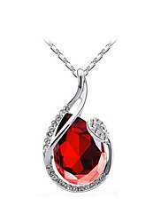 Necklace Pendant Necklaces Jewelry Wedding / Party / Daily / Casual Fashion Crystal / Alloy Silver 1pc Gift