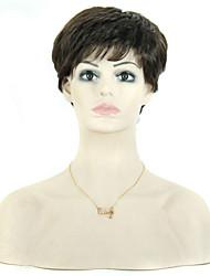 short masculino encaracolados 8 polegadas&perucas femininas para as mulheres negras pixie sintética corte peruca