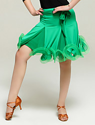 High-quality Viscose with Ruffles Latin Dance Skirt for Women's Performance(More Colors)
