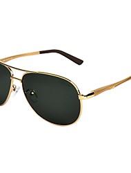 Sunglasses Men's Classic / Retro/Vintage / Modern / Fashion / Polarized Flyer Gold Sunglasses / Goggles / Driving / Night Vision Goggles