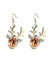 Luxury Drop Earrings for Women Vintage Deer Drop Earrings Fashion Jewelry Accessories Silver Plated