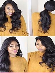 2016 marca nova grande onda solta sexy hot 6-26 polegadas 8a frente perucas laço do cabelo humano integral brasileiro virgem para as