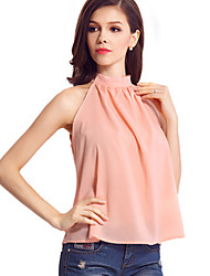 Women's New Style Sexy Backless Strapless Sleeveless Chiffon Shirt