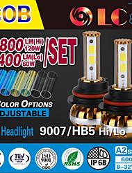 liancheng® 60w 6400lm 9 ~ 32v haute luminosité torchis conduit phare kit-9007 / hb5 pour la voiture, hors route, UTV, atv