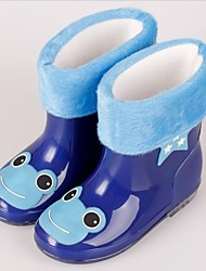 boy and girl Classic Flat Heel Rain Boot Puddle Rain Boot with Cotton Tie and Lining (Toddler/Little Kid)
