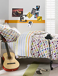 School Sports Style Bedding Set (1pc Comforter Case+1pc Bedsheet+2pcs Pillowcases) 4pcs Duvet Cover sets