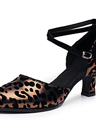Sapatos de Dança(Marrom / Prateado / Dourado) -Feminino-Não Personalizável-Latina / Moderna