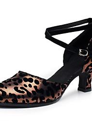 Zapatos de baile(Marrón / Plata / Oro) -Latino / Moderno-No Personalizables-Tacón Cuadrado