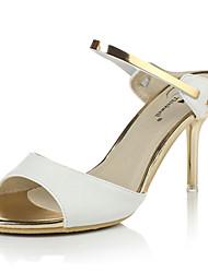 Zapatos de mujer-Tacón Stiletto-Punta Abierta / Talón Descubierto / Zapatillas-Sandalias-Oficina y Trabajo / Vestido / Casual / Fiesta y