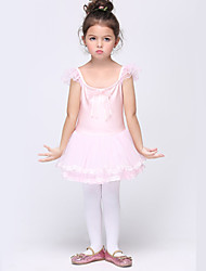 Girl's Pink Dress , Bow Cotton / Spandex All Seasons