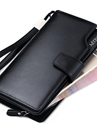 Men Cowhide Bi-fold Clutch / Evening Bag / Card & ID Holder / Wristlet / Mobile Phone Bag / Business Card Holder