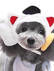 Собаки Ошейники Регулируется/Выдвижной Белый Текстиль