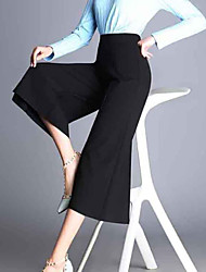 Pantalon Aux femmes Bootcut Décontracté / Street Chic Polyester Non Elastique