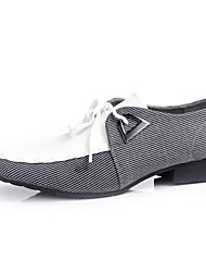 Men's Shoes Casual Fabric Oxfords Black / Gray