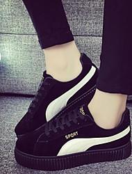 Scarpe Donna - Sneakers alla moda - Tempo libero / Casual - Comoda / Punta arrotondata - Plateau - Finta pelle - Nero