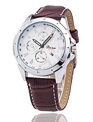Xu™ Мужской Наручные часы Кварцевый Календарь Кожа Группа Черный Коричневый