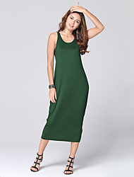 Women's Sexy Casual / Beach / Holiday / Party Strap Backless Long Dress