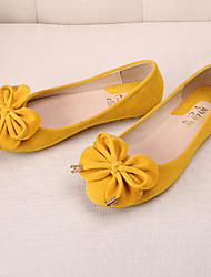 Women's Flats  Round Toe / Closed Toe / Flats  Casual Flat Heel BowknotBlack / Blue / Yellow / Pink /
