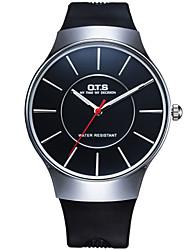 Luxury Silicon Bracelet Wrist Watch with Black Elegant Dial Quartz Watches Relojes Hours for Men Women Cool Watch Unique Watch
